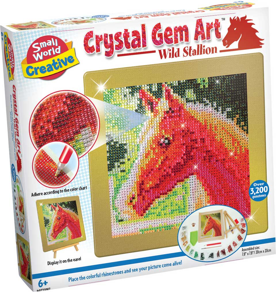 Crystal Gem Art wild paard