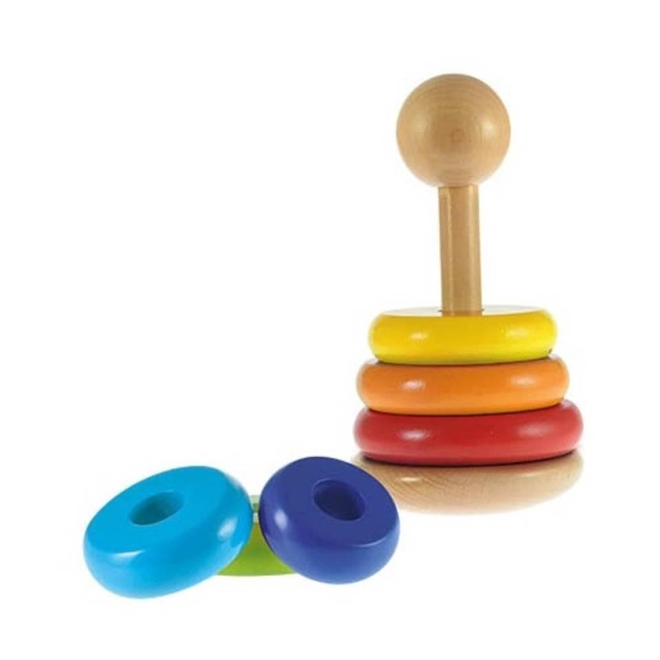 Toi-Toys houten stapeltoren 7-delig - 20 cm