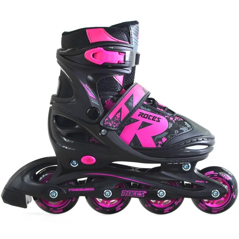 Roces inline skates Jokey 2.0 meisjes - maat 38-41 - zwart/roze