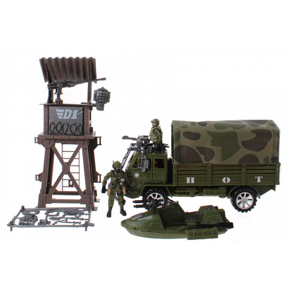 Toi-Toys speelset truck leger jongens groen 6-delig
