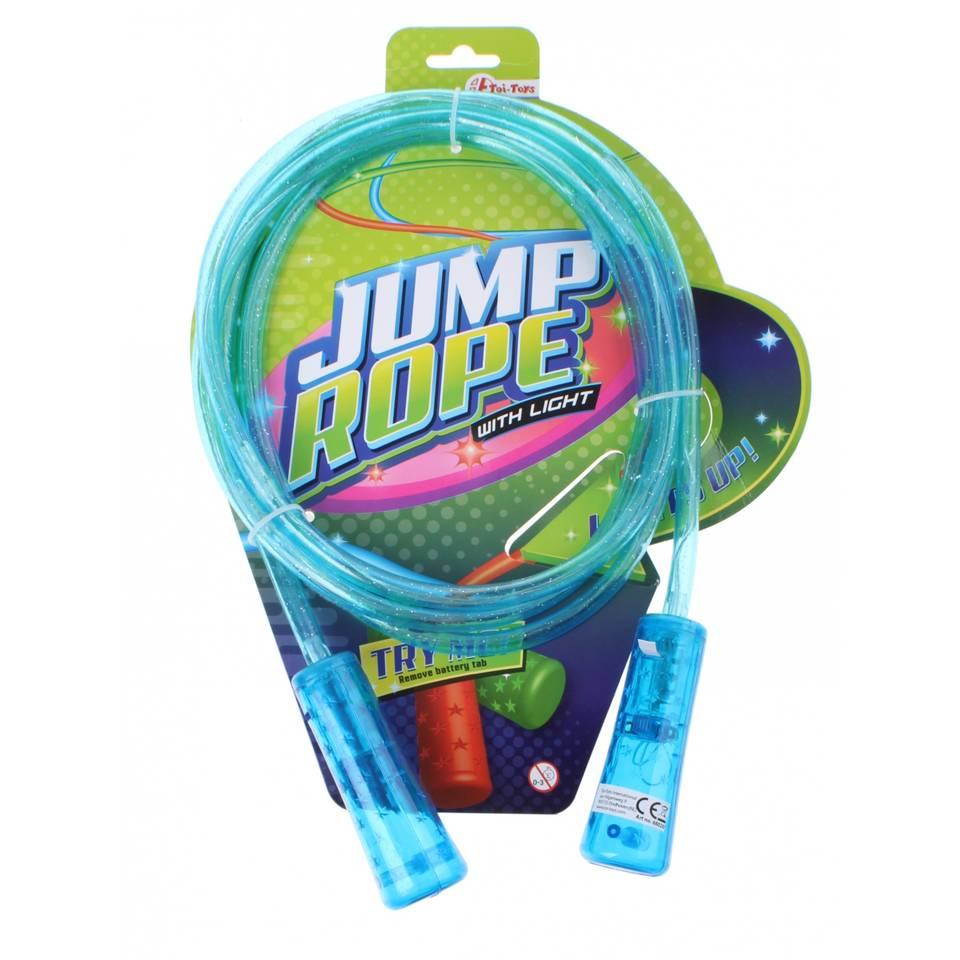 Toi-Toys springtouw met licht - 210 cm - blauw