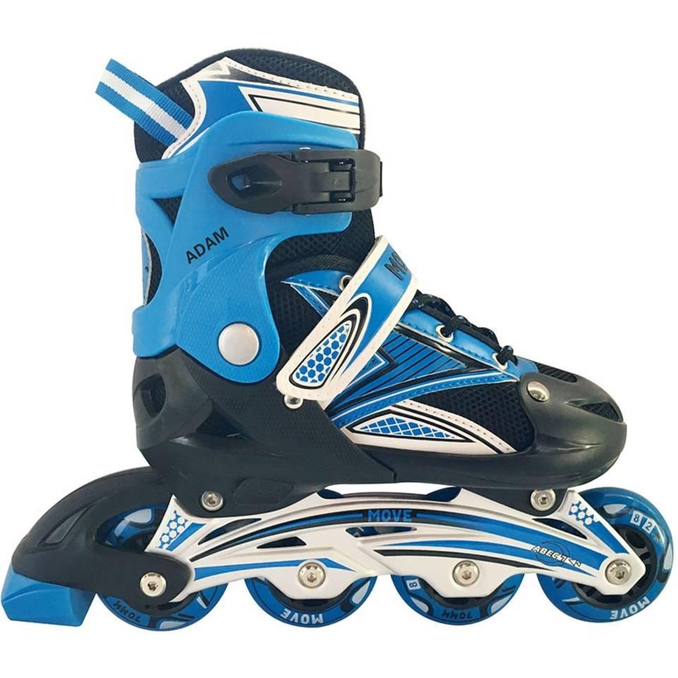 Move inline skates Adam junior - maat 34/37 - blauw/zwart