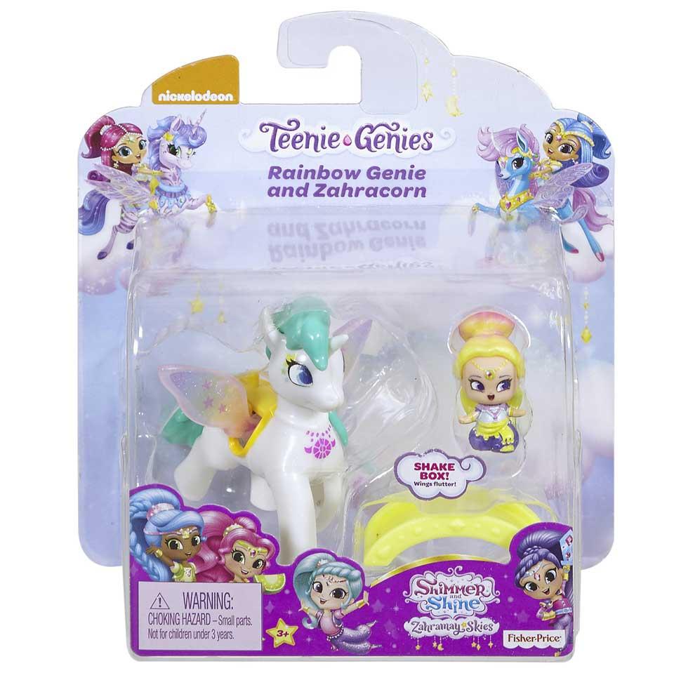 Fisher-Price Shimmer & Shine Teenie Genies regenboog Genie en Zahracorn