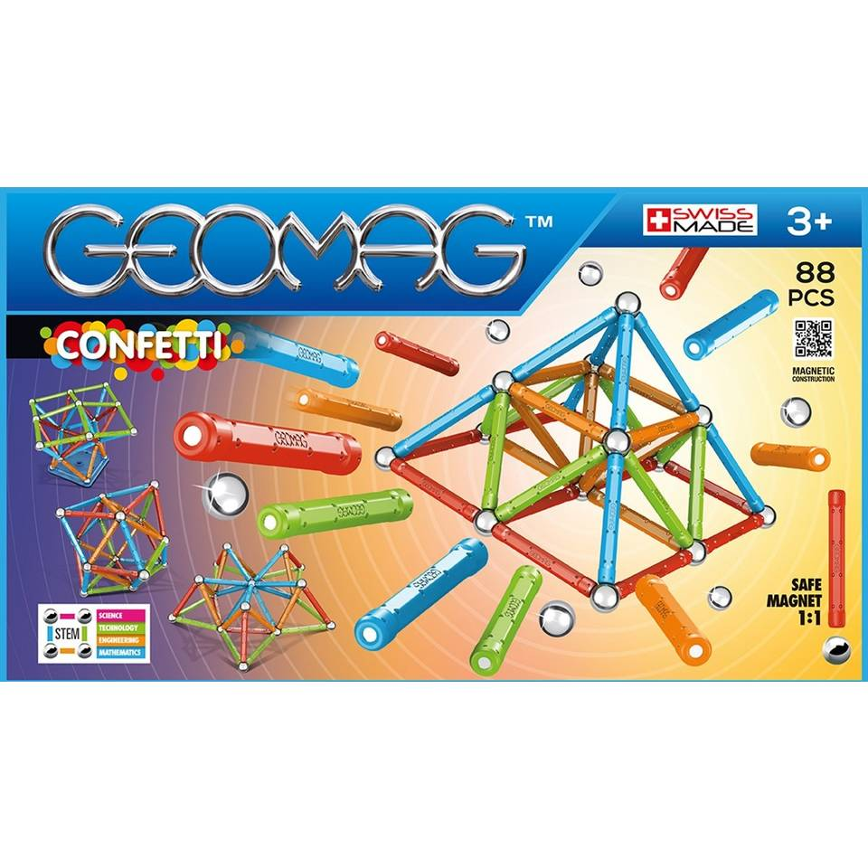 Geomag Confetti 88-delig