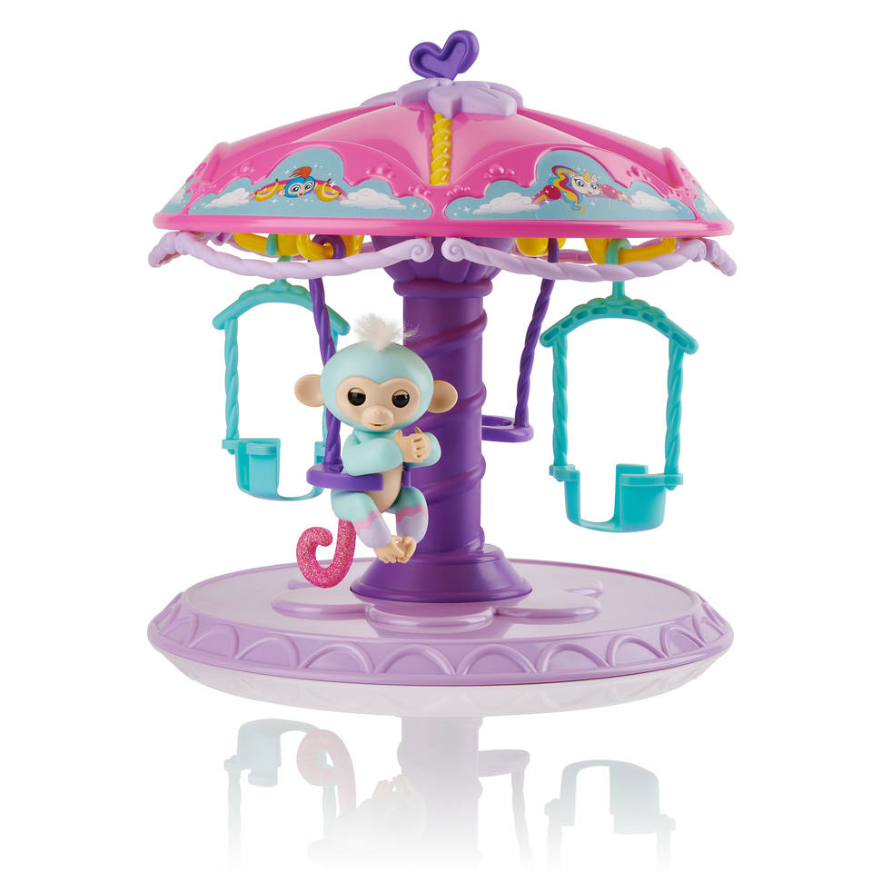 Fingerlings Carrousel speelset met baby aapje Abigail