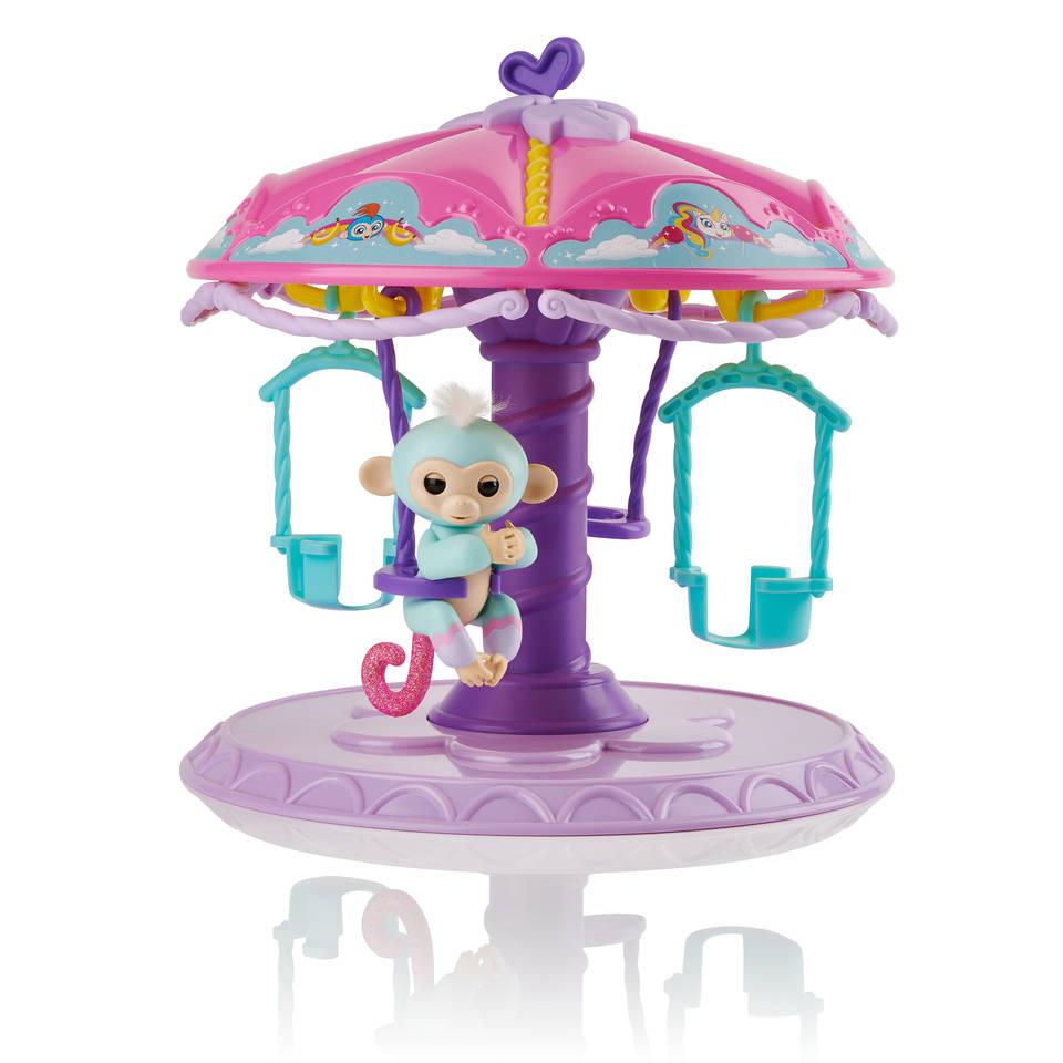 Fingerlings Carrousel speelset met baby aapje Abigail