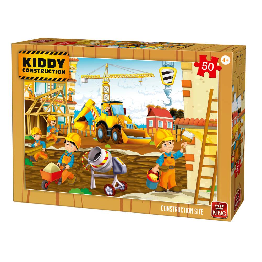 Puzzel bouwplaats - 24 stukjes