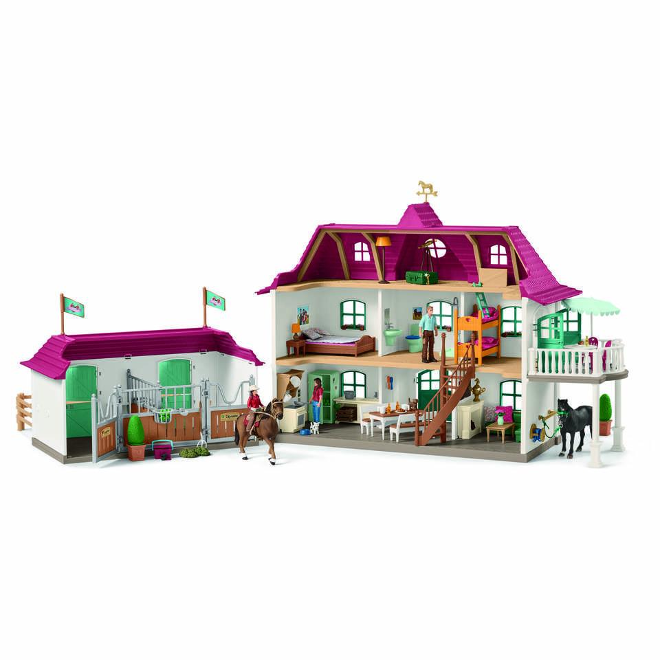 Schleich figuur grote manege met huis en stal 42416