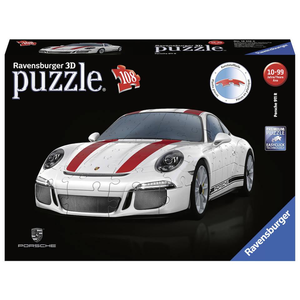 Ravensburger 3D puzzel Porsche 911R - 108 stukjes