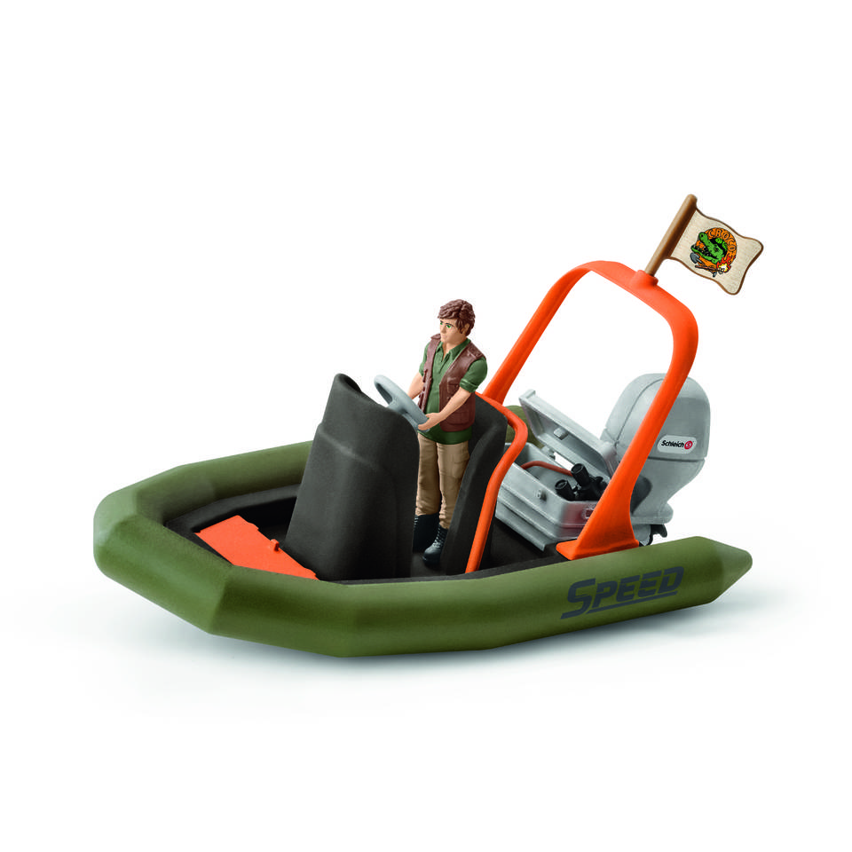 Schleich figuur speelset rubberboot met ranger 42352
