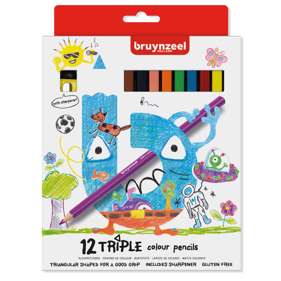 Bruynzeel driekantige potloden - 12 stuks