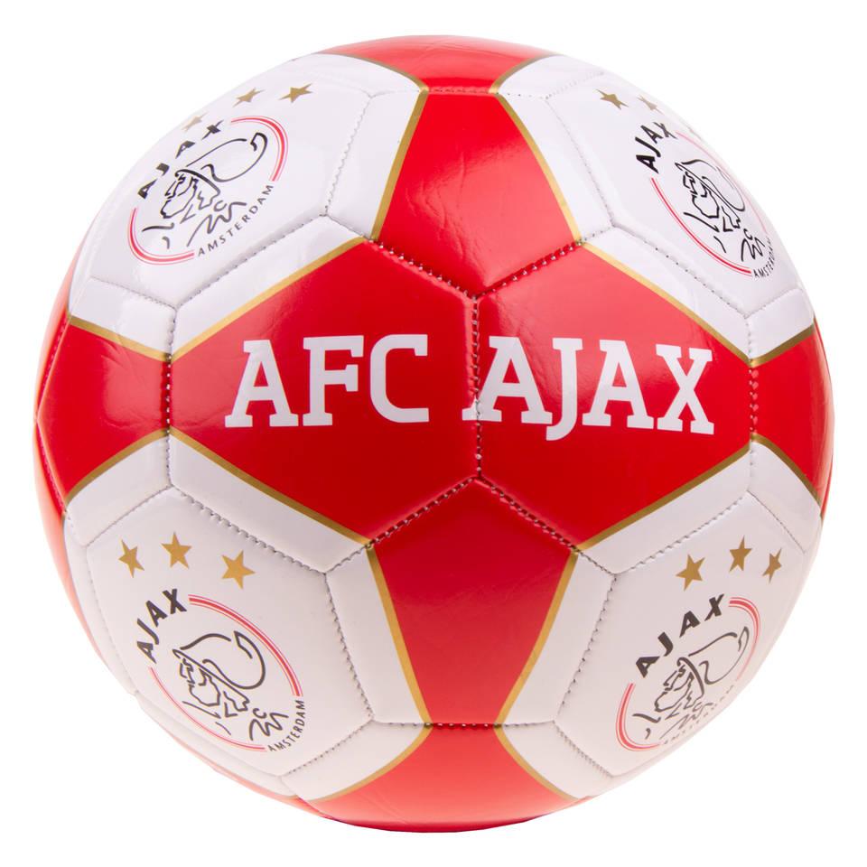 AFC Ajax voetbal - maat 5 - rood/wit