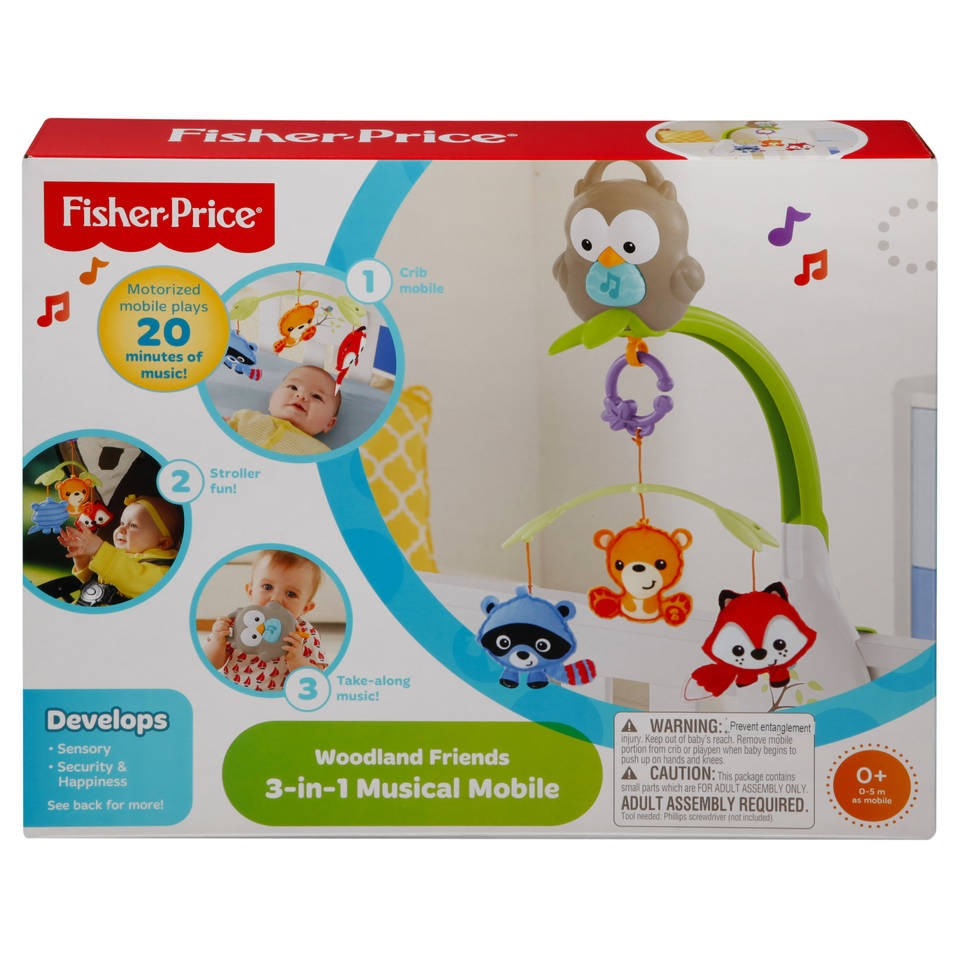 Fisher-Price Woodland Friends 3-in-1 muziekmobiel