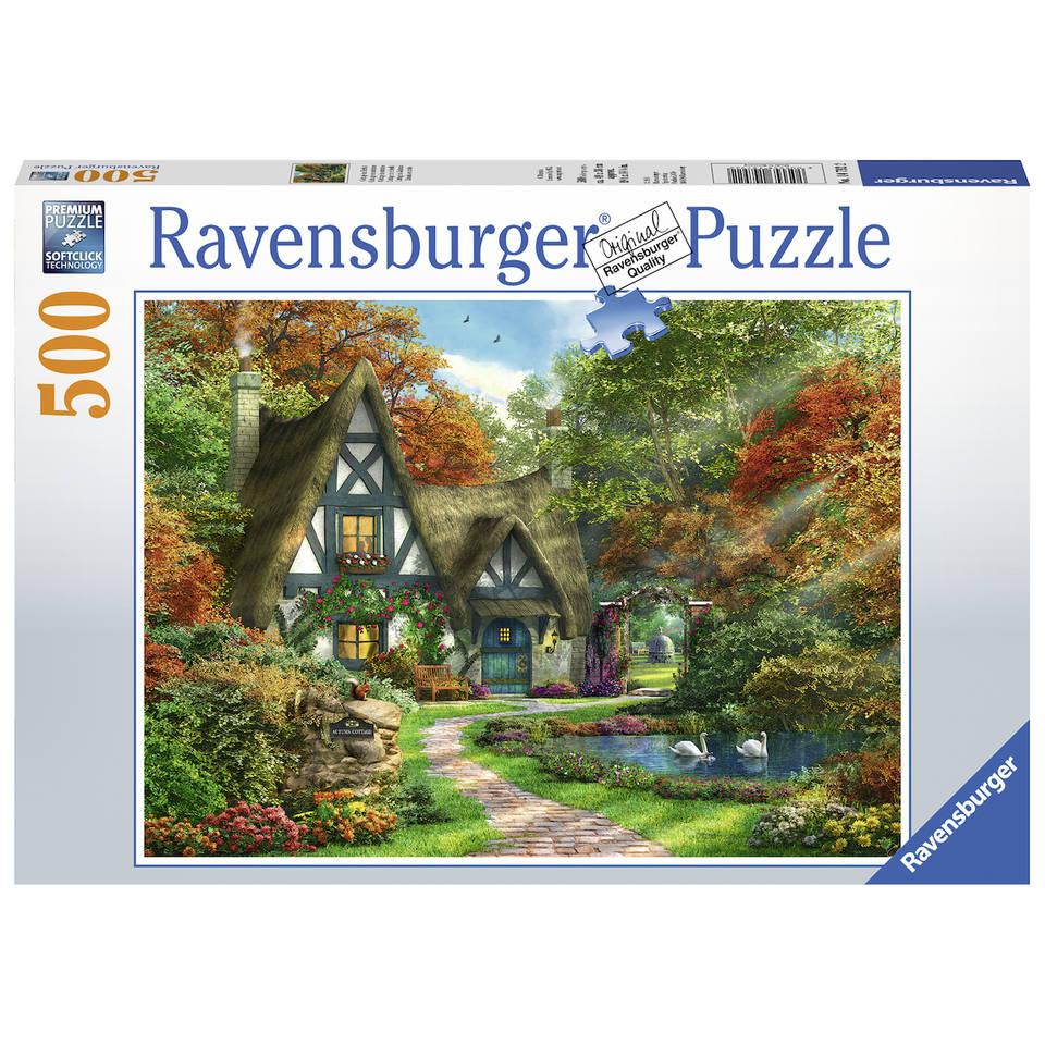 Ravensburger puzzel huisje in de herfst - 500 stukjes
