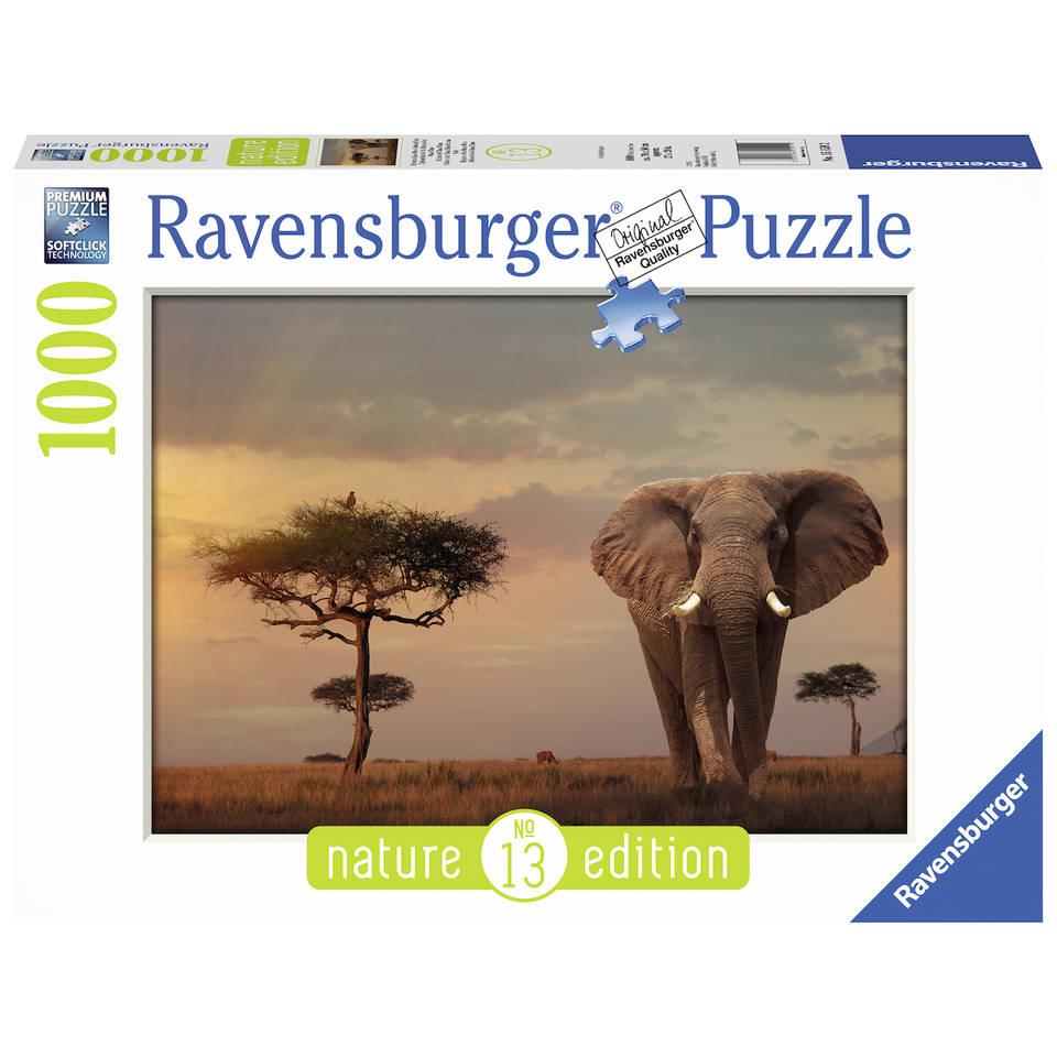 Ravensburger puzzel olifant in het Masai Mara - 1000 stukjes