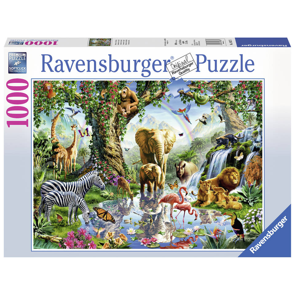 Ravensburger puzzel avonturen in de jungle - 1000 stukjes