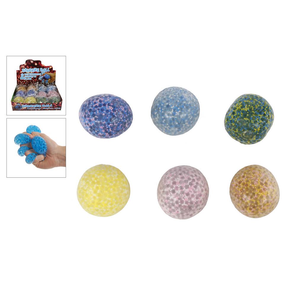 Knijpbal met waterparels & slijm - 7 cm