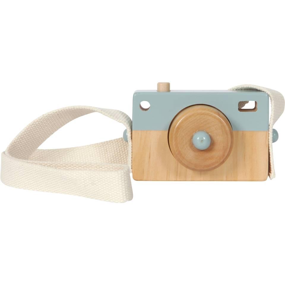 Little Dutch houten camera - blauw