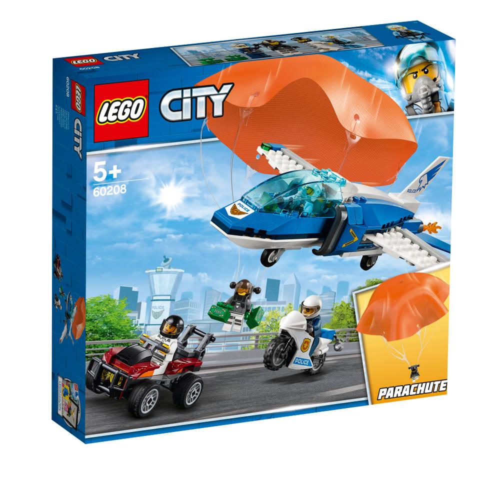 LEGO City luchtpolitie parachute arrestatie 60208