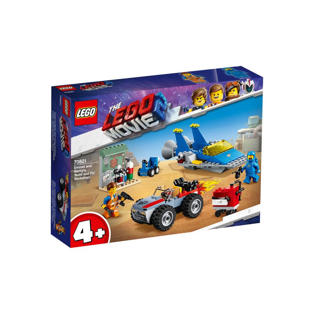 LEGO The LEGO Movie 2 Emmets en Benny's bouw en reparatiewerkplaats 70821