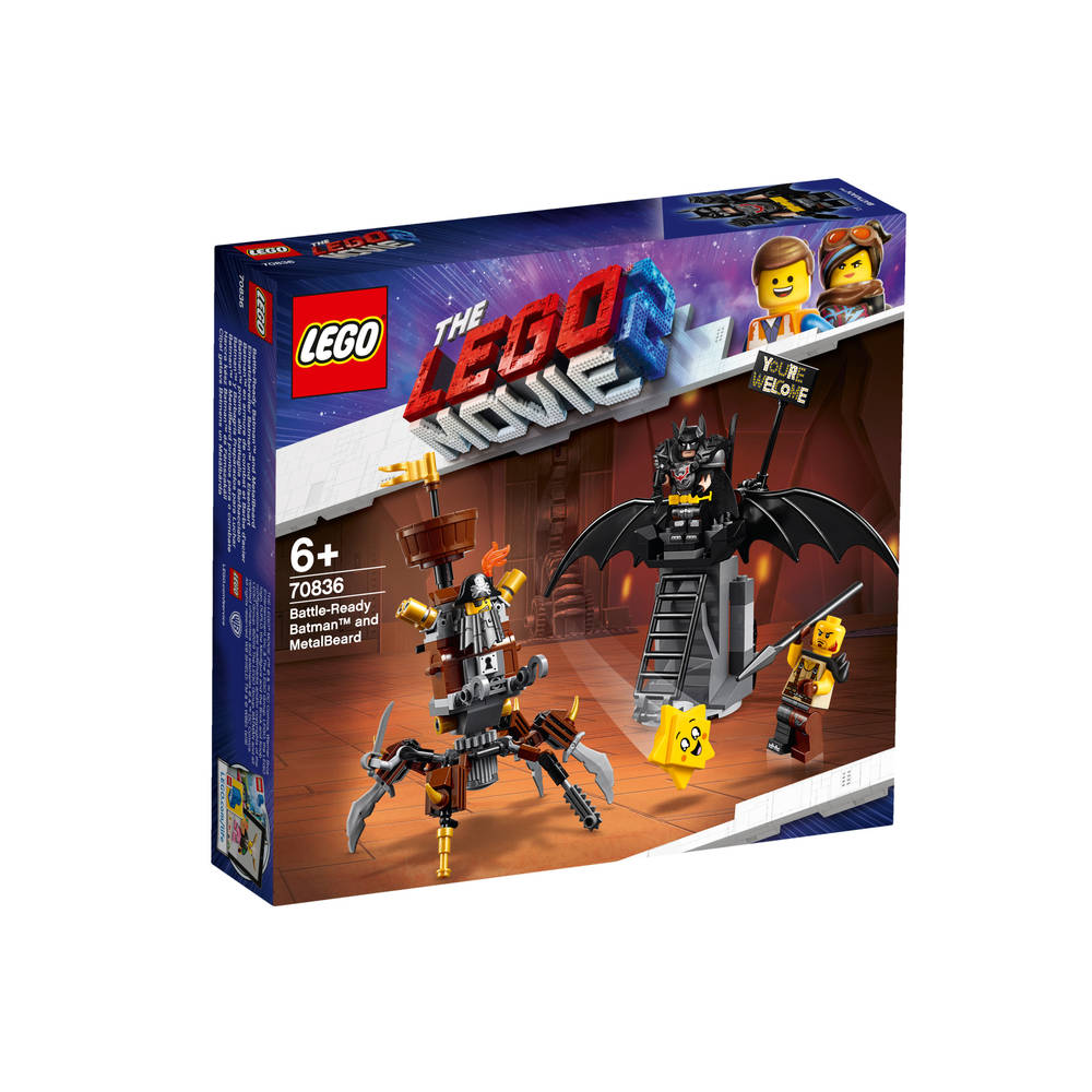 LEGO The LEGO Movie 2 Gevechtsklare Batman en Metaalbaard 70836