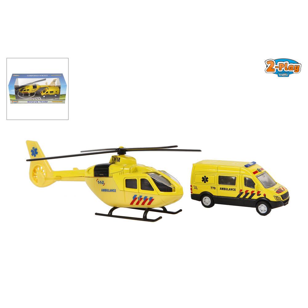 2-Play reddingsset ambulance en helikopter