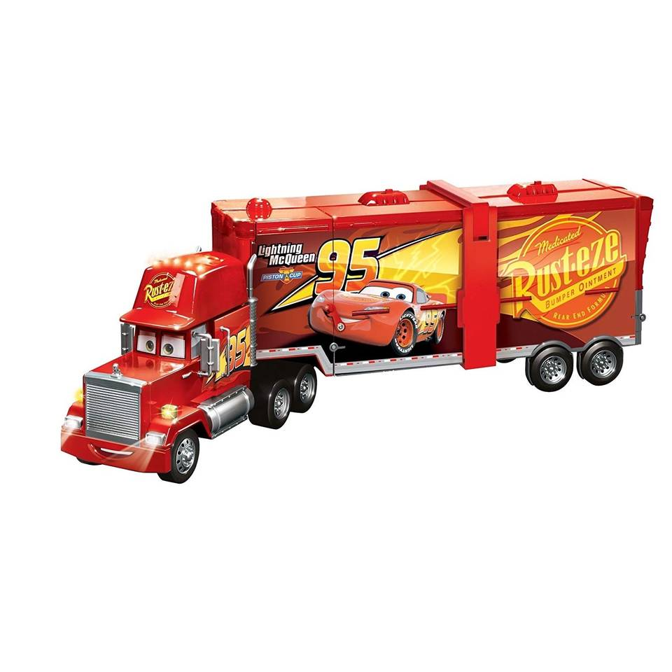 Disney Cars 3 Transformin' Cars World Mack Truck 90 cm rood