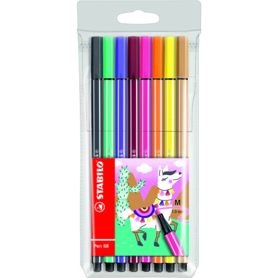 STABILO Pen 68 Living Colors Edition etui - 8 stuks