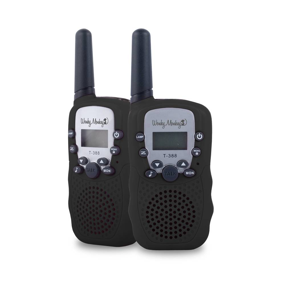 Wonky Monkey walkie talkie set - zwart