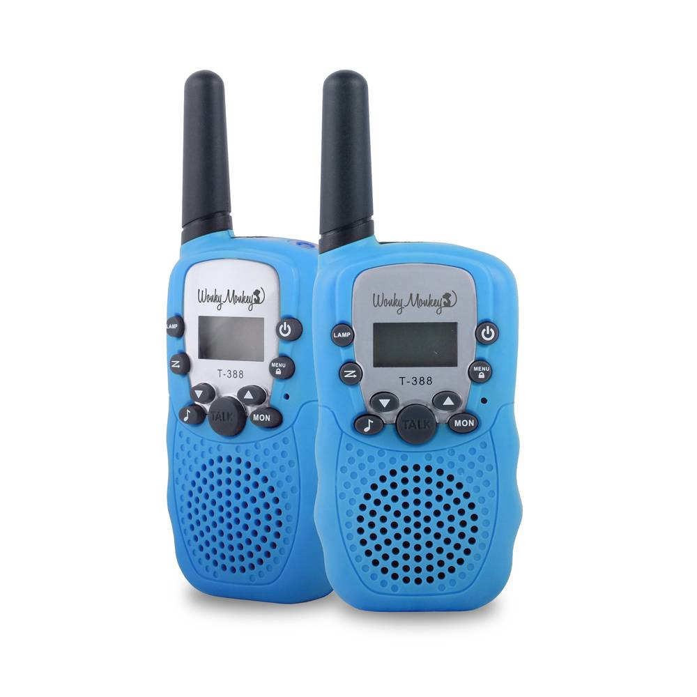 Wonky Monkey walkie talkie set - blauw