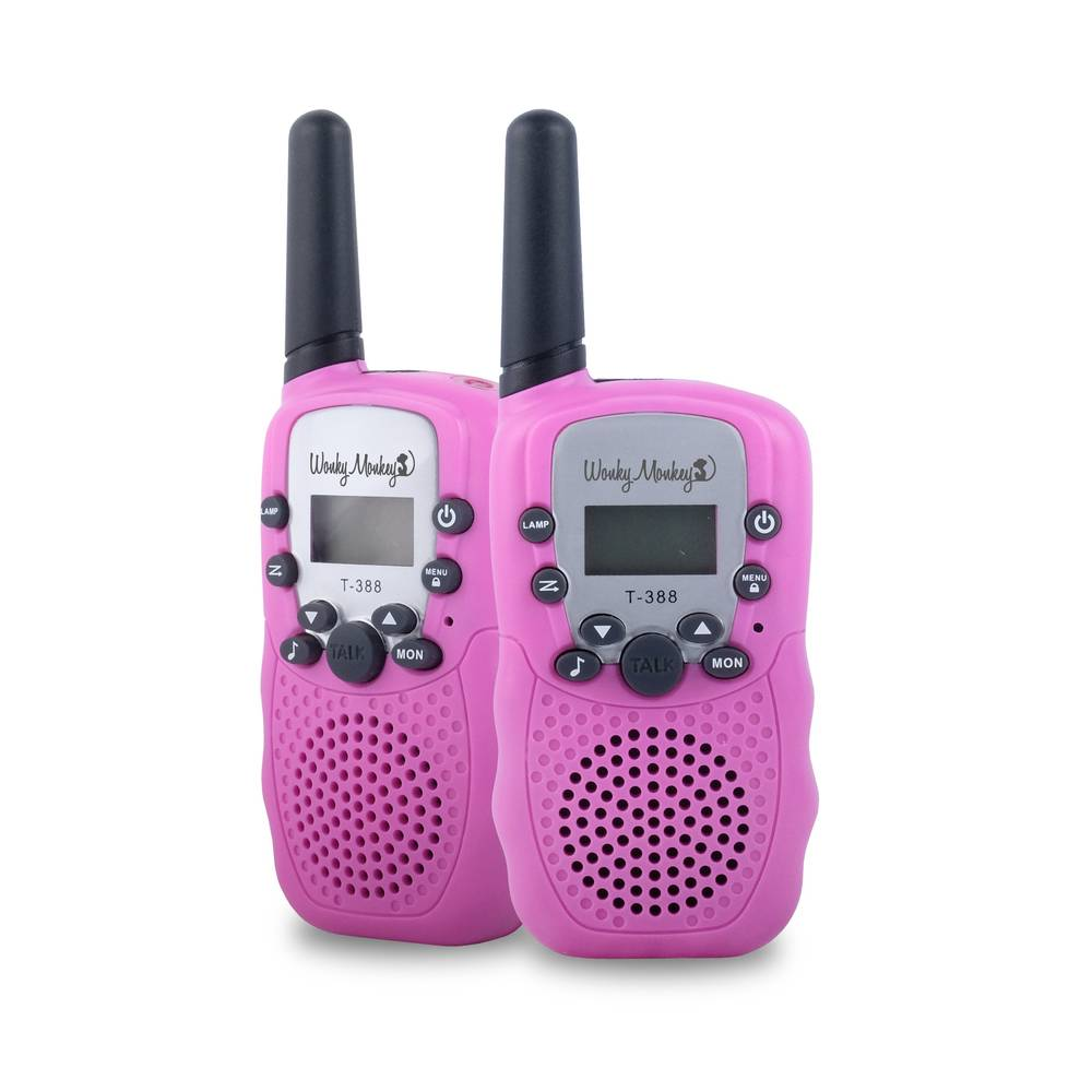 Wonky Monkey walkie talkie set - roze