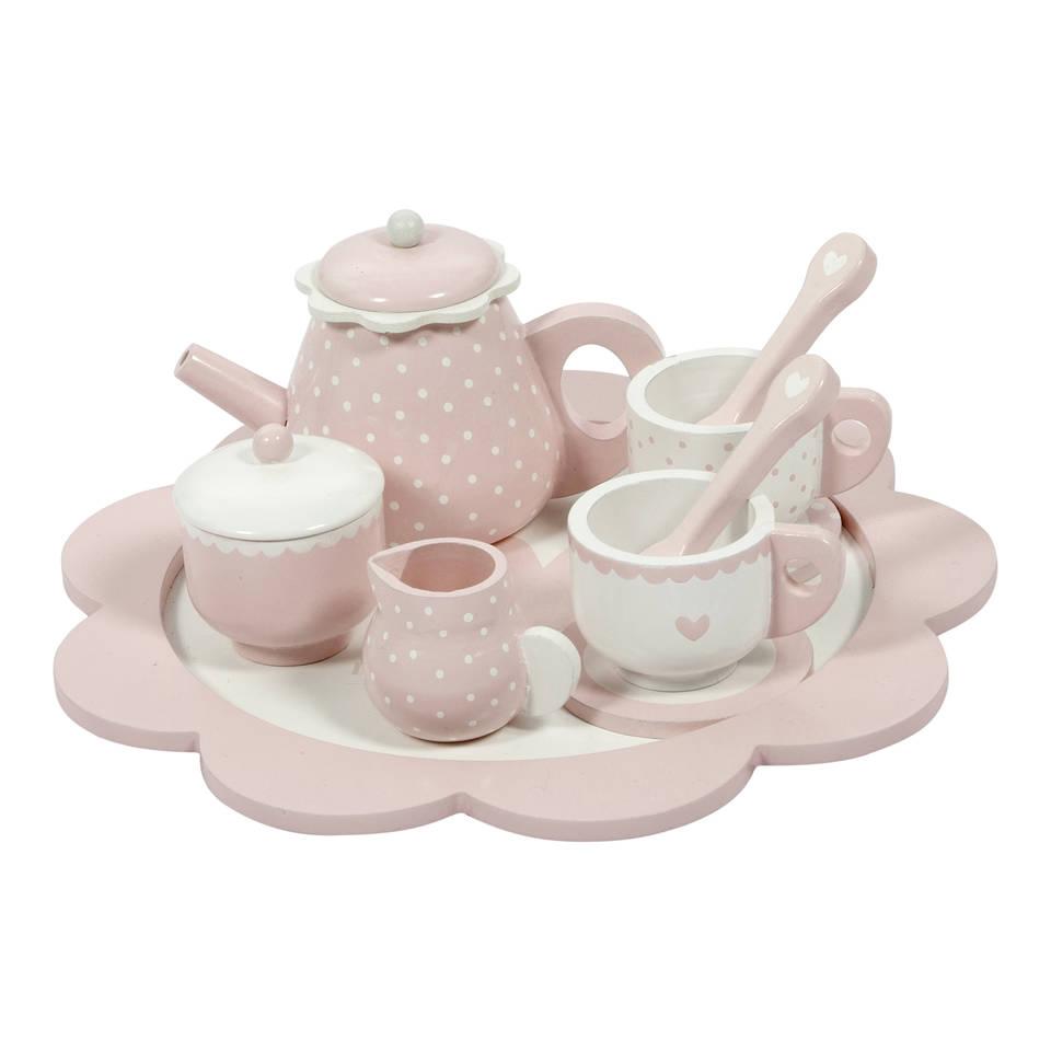Little Dutch houten theeservies - roze