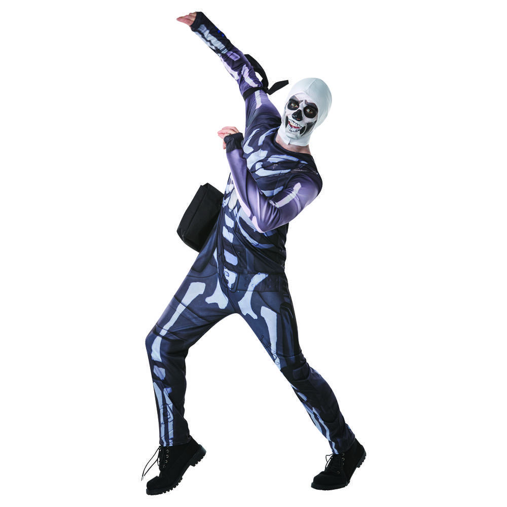 Fortnite Tween Skull Trooper verkleedset - maat 140