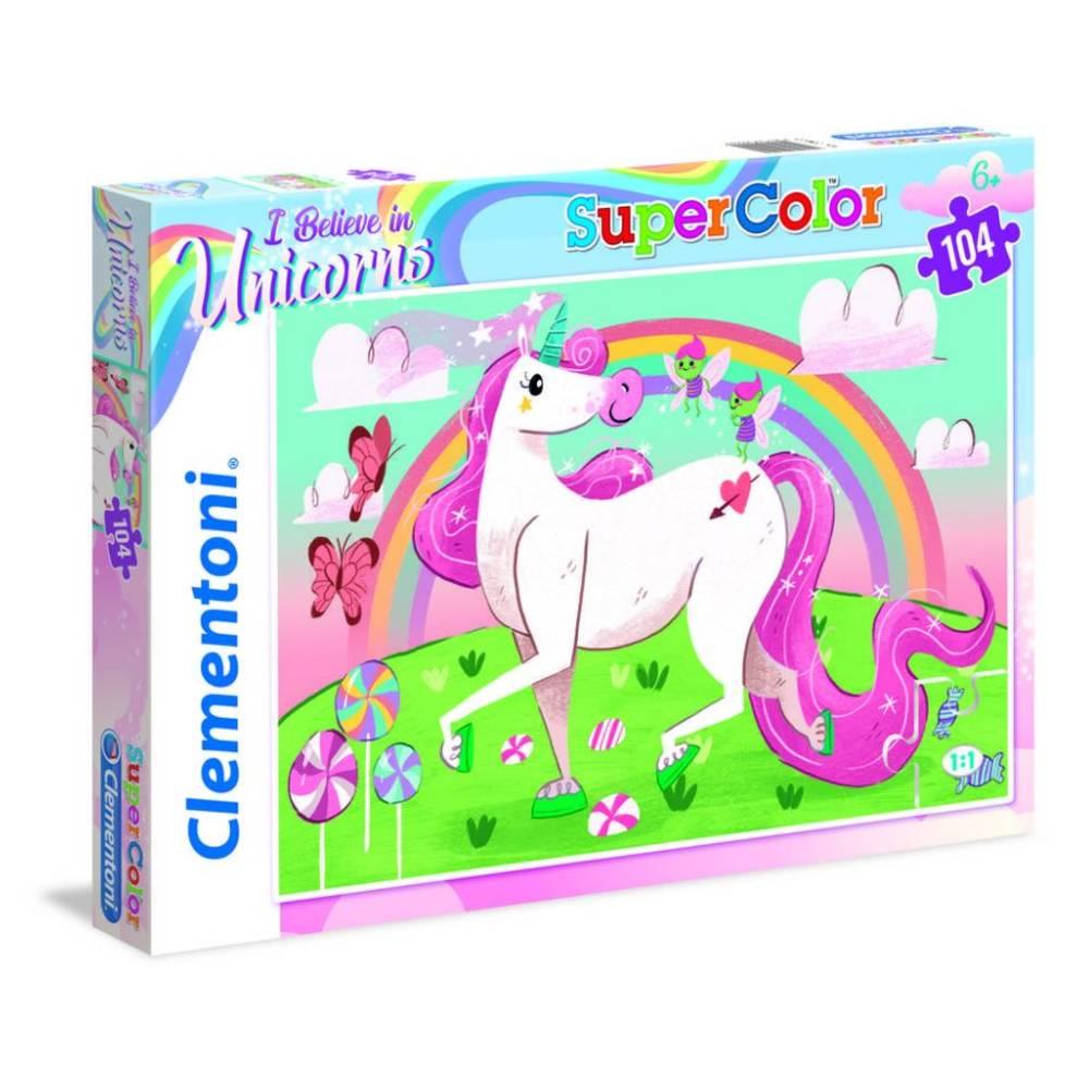 Clementoni puzzel eenhoorn - 104 stukjes