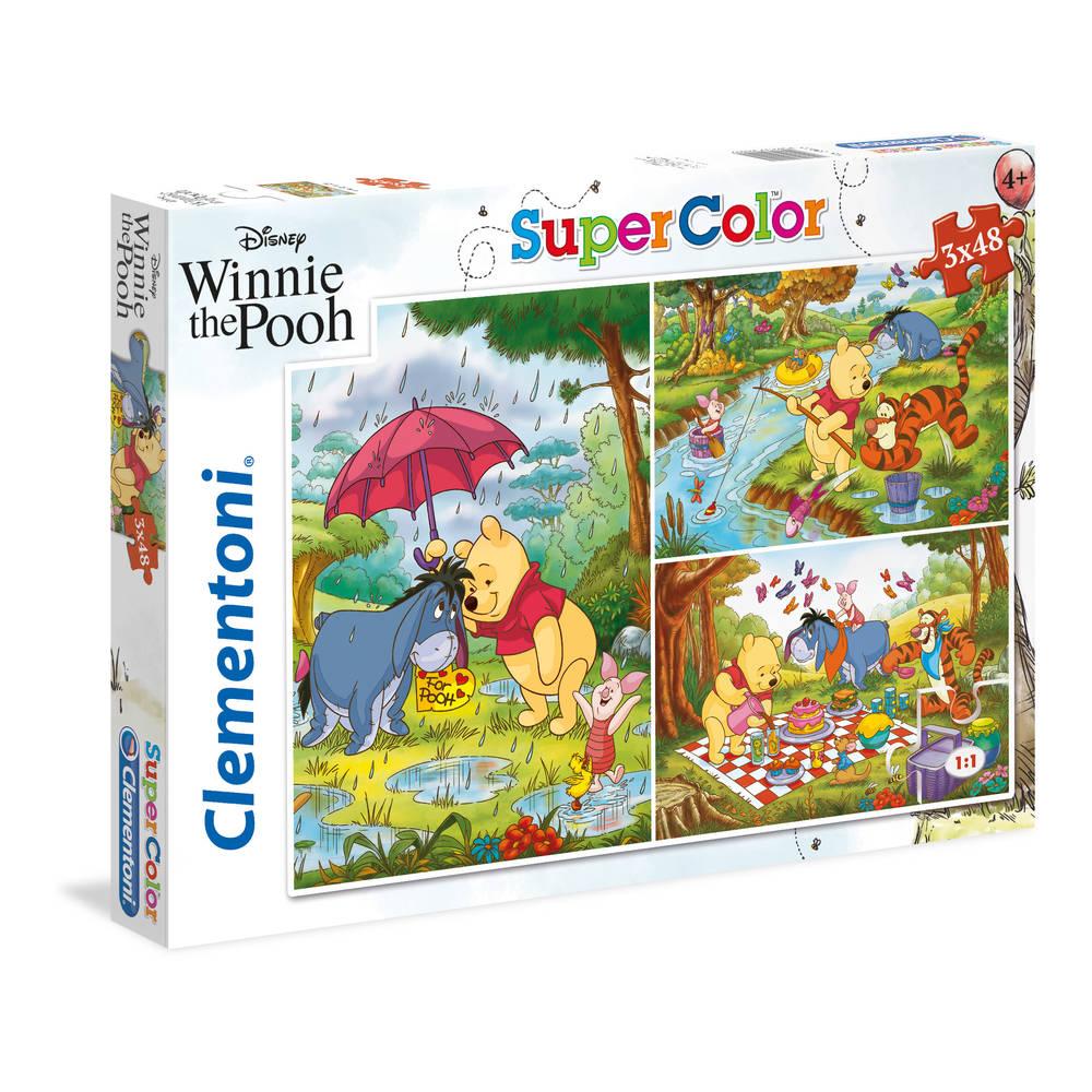 Clementoni puzzel Winnie de Poeh - 3 x 48 stukjes
