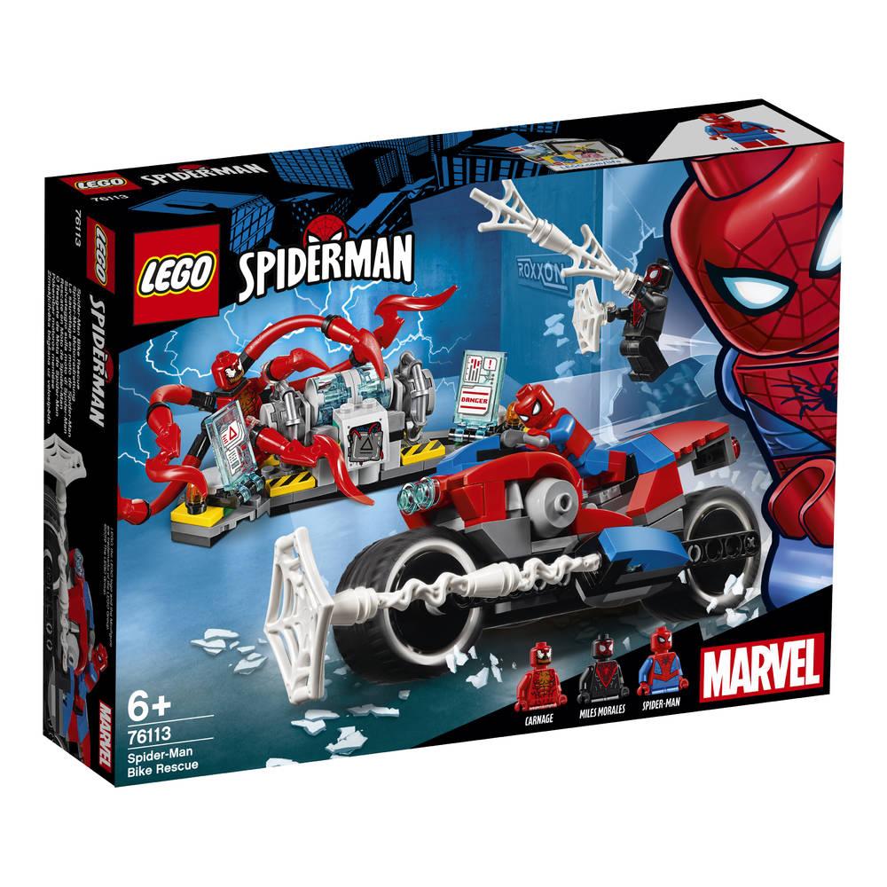 LEGO Marvel Super Heroes Spider-Man bike reddingsactie 76113