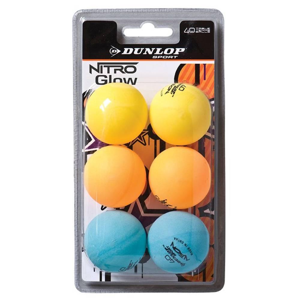 Dunlop Nitro Glow tafeltennisbal - 6 stuks