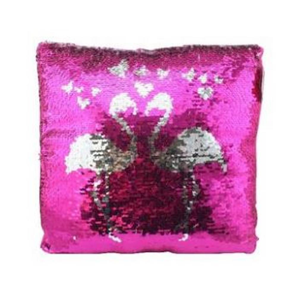 Flamingo kussen met sequin pailletten
