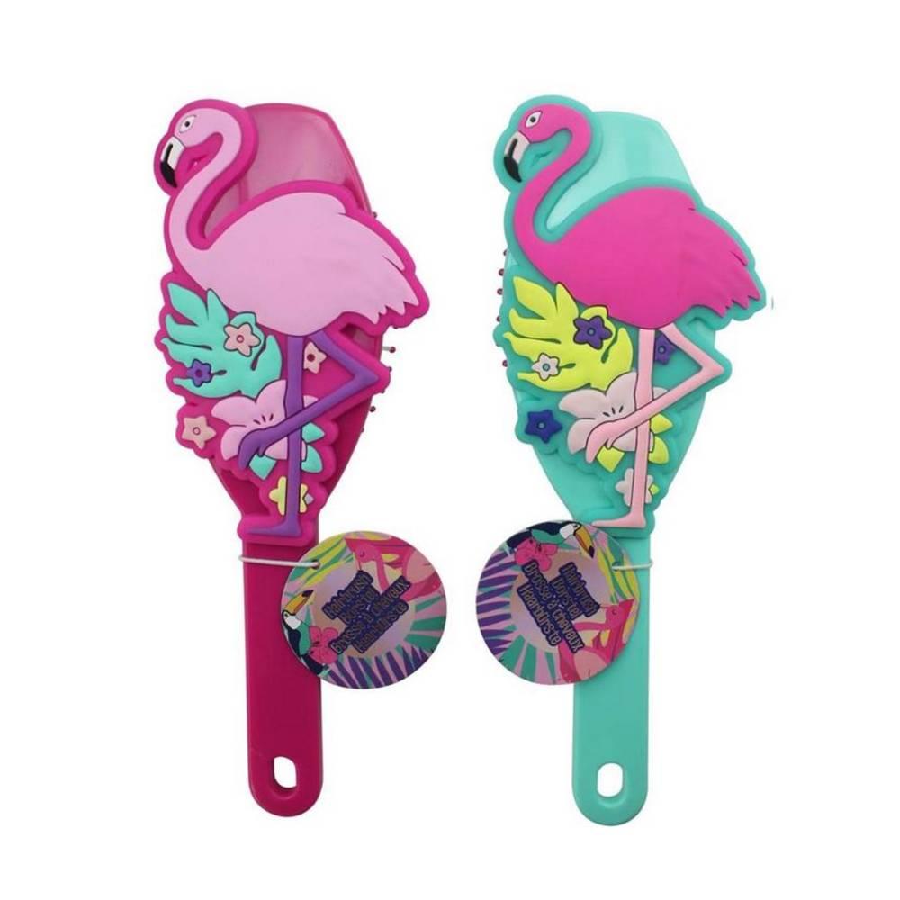 Flamingo haarborstel