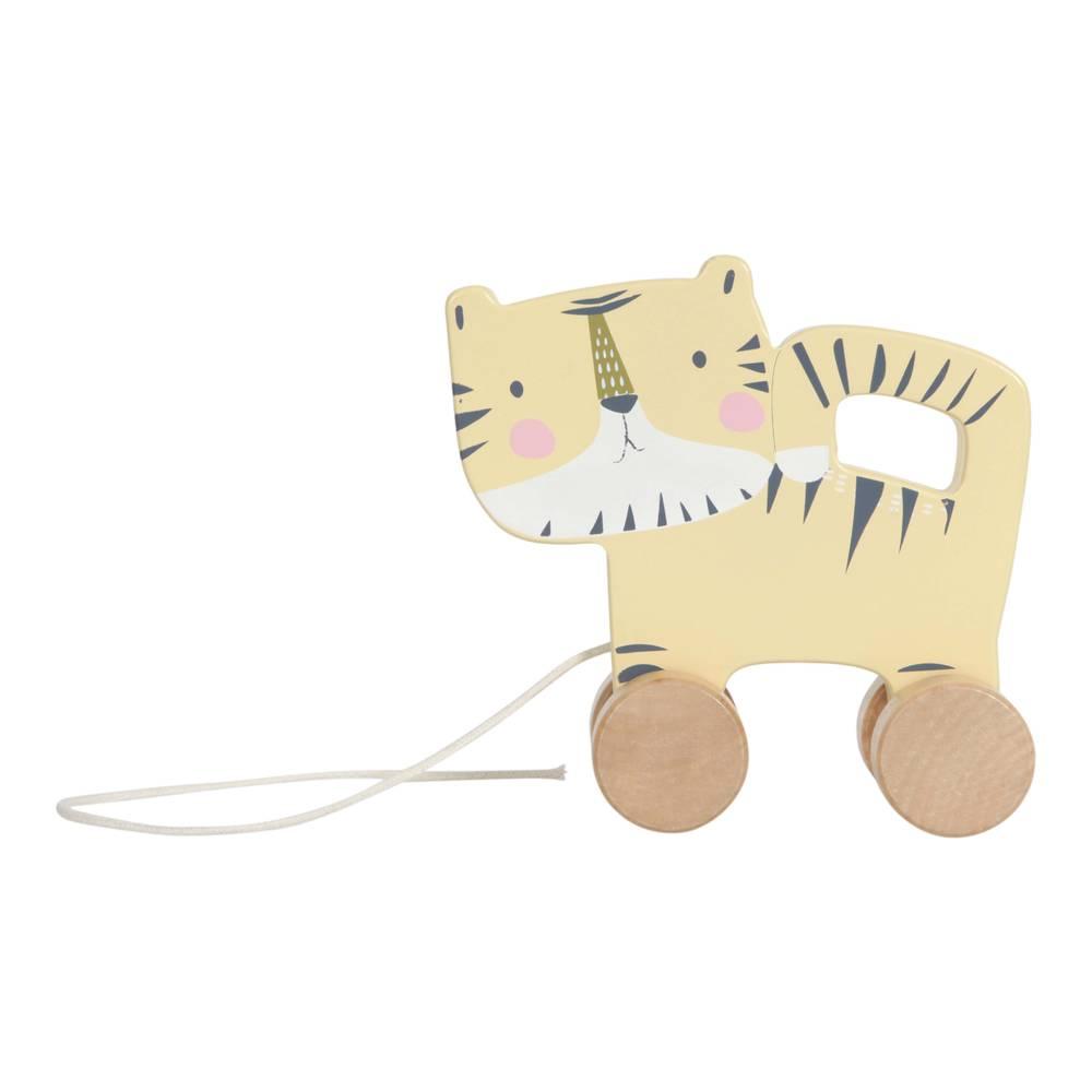 Little Dutch houten trekfiguur tijger - geel