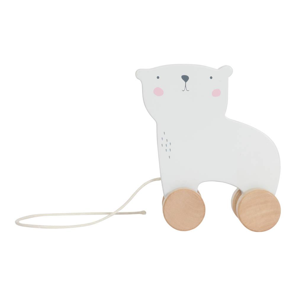 Little Dutch houten trekfiguur ijsbeer - wit