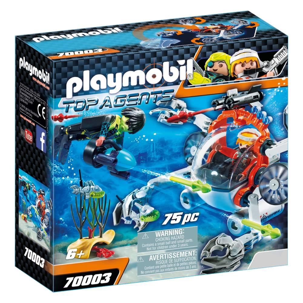 PLAYMOBIL Top Agents spy team bemande onderwaterrobot 70003