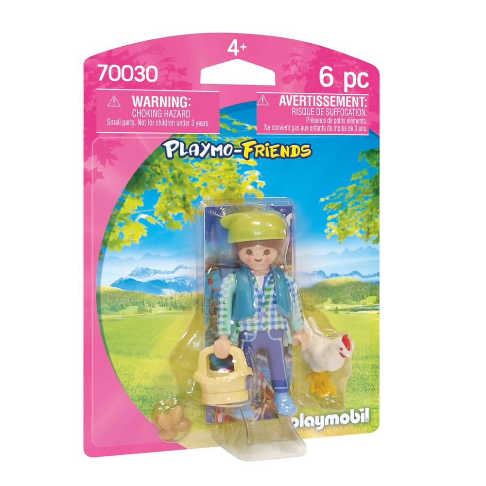 PLAYMOBIL Playmo-Friends boerin met kip 70030
