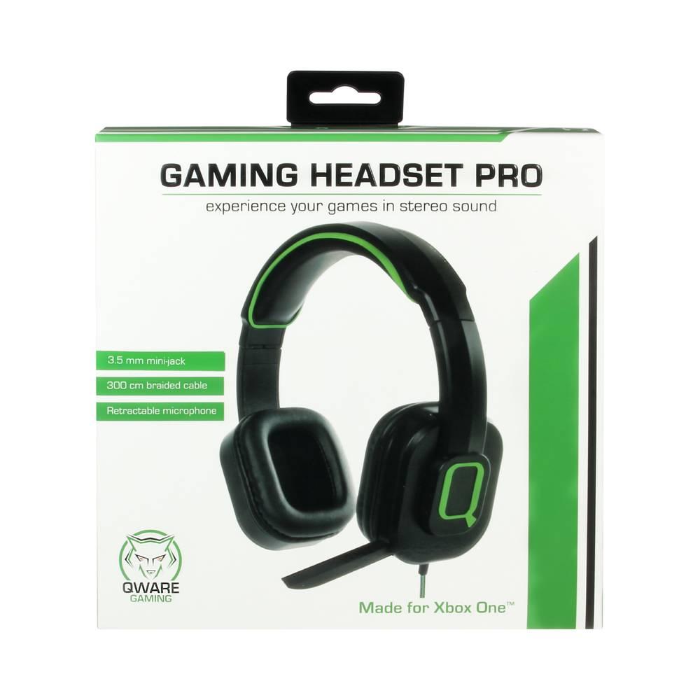 Xbox One Qware stereo gaming headset - zwart