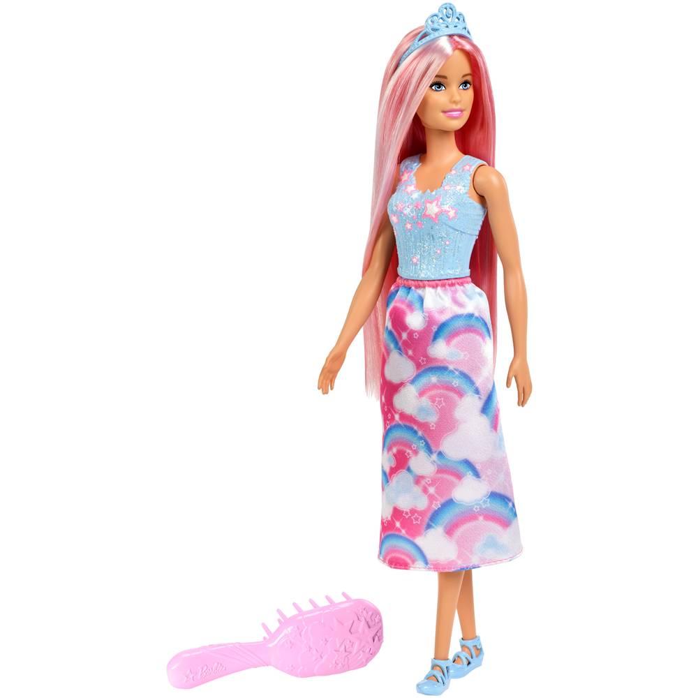 Barbie Dreamtopia haarpop met borstel