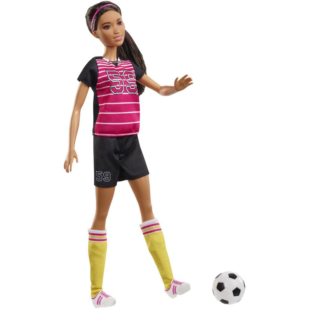 Barbie pop voetbalster
