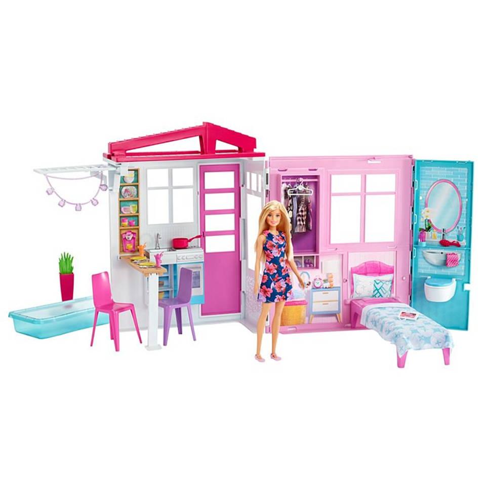 Barbie huis met pop
