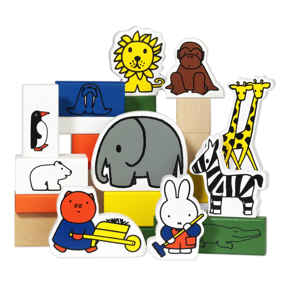 Nijntje houten blokken dierentuin