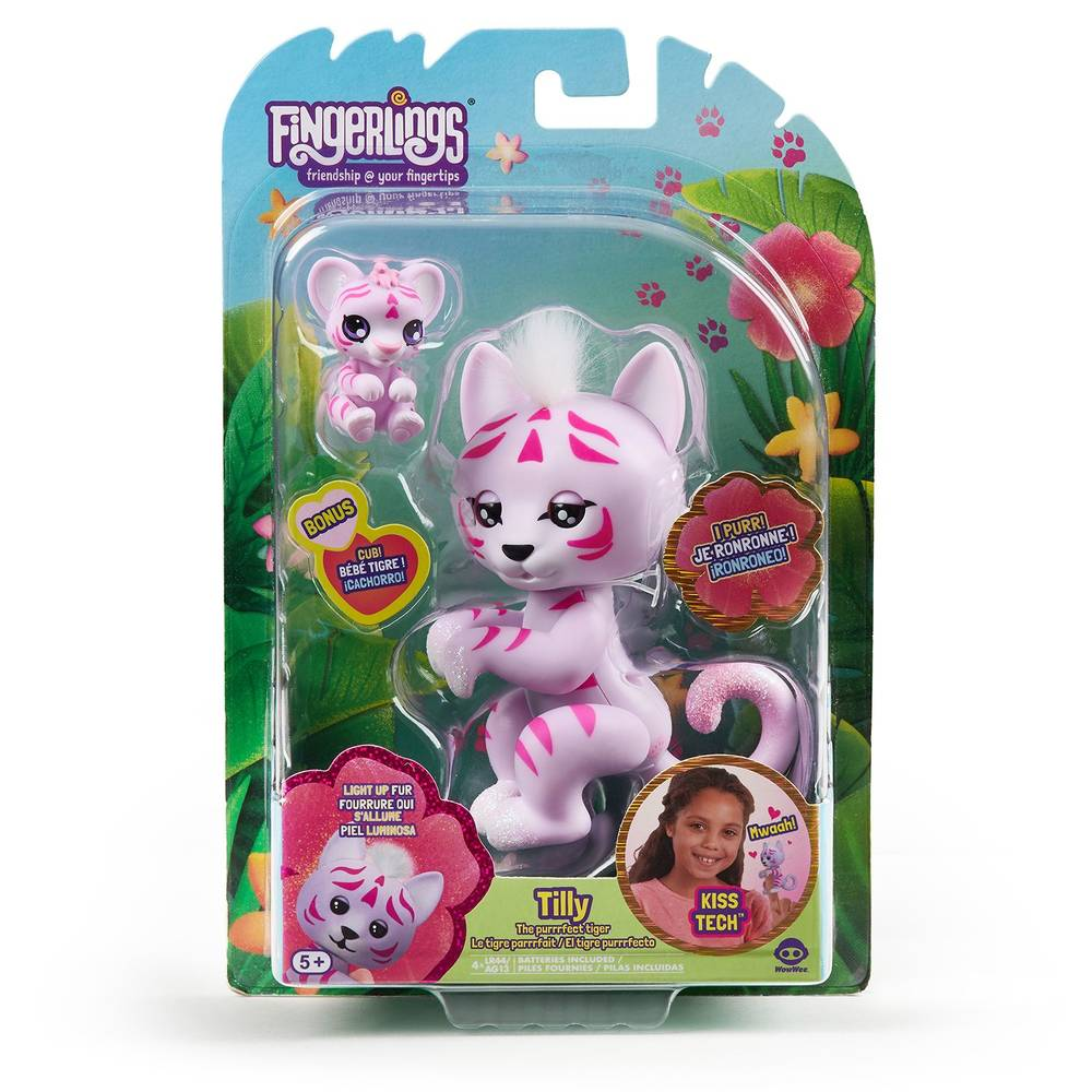 Fingerlings baby tijger Tilly - roze