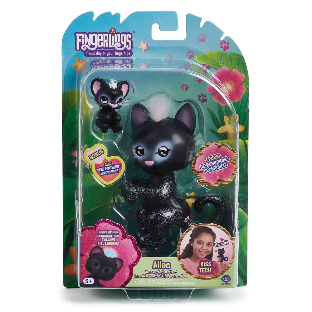 Fingerlings baby panter Twilight - zwart